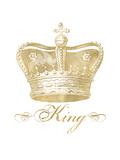 Crown King Golden White Affiches par Amy Brinkman