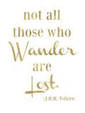 Wander Lost Golden White Poster par Amy Brinkman