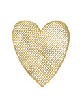 Heart Crosshatched Golden White Poster par Amy Brinkman