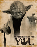 Star Wars- Yoda Force Quote Plakater