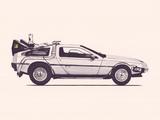 Delorean Back To The Future 高品質プリント : フローレント・ボダルト