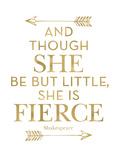 Fierce Shakespeare Arrows Golden White Kunstdruck von Amy Brinkman