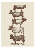 Cow Cow Nuts 2 Posters af Florent Bodart