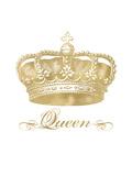 Crown Queen Golden White Affiche par Amy Brinkman