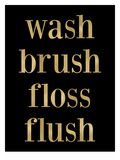 Wash Brush Floss Golden Black Art par Amy Brinkman