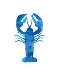 Watercolor Blue Lobster Plakater av  Jetty Printables