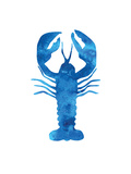 Watercolor Blue Lobster Poster von  Jetty Printables