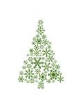 Green Snowflake Tree Poster di  Jetty Printables