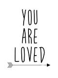 Black You Are Loved Plakater av  Jetty Printables