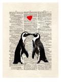 Penguin Lovers Print by Matt Dinniman