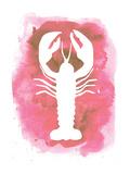 Watercolor Pink Lobster Plakater av  Jetty Printables