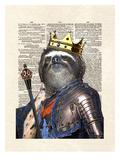 Sloth King Prints by Matt Dinniman