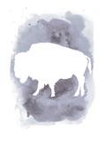 Watercolor Gray Buffalo Kunst av  Jetty Printables