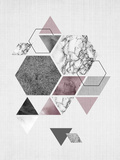 Geometric Hexagons Kunst van  LILA X LOLA