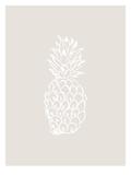 Beige White Pineapple Plakater av  Jetty Printables
