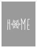 Gray White Home Snowflake Posters av  Jetty Printables