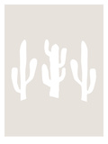Beige White Cactus Plakater av  Jetty Printables