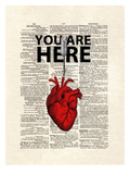 You Are Here Posters van Matt Dinniman