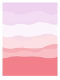 Coral Lavender Abstract Plakater av  Jetty Printables