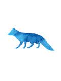 Watercolor Blue Fox Plakater av  Jetty Printables