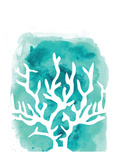 Watercolor Aqua Coral Posters av  Jetty Printables