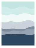 Mint Navy Abstract Posters av  Jetty Printables