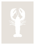 Beige White Lobster Posters af  Jetty Printables