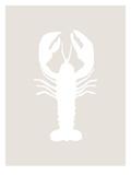 Beige White Lobster Plakater av  Jetty Printables