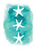 Watercolor Aqua Starfish 3 Posters av  Jetty Printables