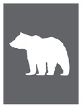 Gray White Bear Kunst av  Jetty Printables