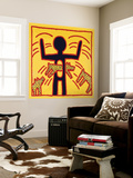 Haring - Untitled October 1982 Private Collection Wall Mural by Keith Haring
