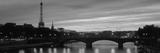 Sunset, Romantic City, Eiffel Tower, Paris, France Fotografisk tryk
