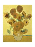 Vase of Fifteen Sunflowers, c.1888 Metal Print by Vincent van Gogh