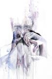 Gestures Metalldrucke von Agnes Cecile