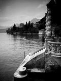 Lombardy, Lakes Region, Lake Como, Varenna, Villa Monastero, Gardens and Lakefront, Italy Fotografisk trykk av Walter Bibikow