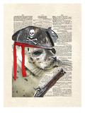Swabby The Seal Kunstdruck von Matt Dinniman