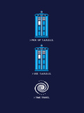 8 Bit Tardis - Doctor Who Video Game Mashup Láminas por  Boots