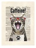 Cat Caffeine Lámina por Matt Dinniman