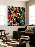 Untitled Pop Art Seinämaalaus tekijänä Keith Haring