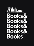 Books - Book Nerd Helvetica Typography Pôsters por  Boots