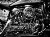 V-Twin Motorcyle Engine Photographic Print by Stephen Arens