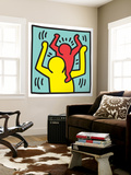 Untitled Pop Art Carta da parati decorativa di Keith Haring