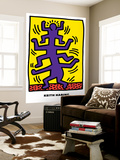 Untitled Pop Art Seinämaalaus tekijänä Keith Haring