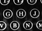 Teclas de máquina de escribir antigua Arte sobre metal por Henry Horenstein