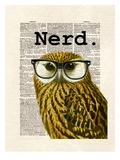Owl Nerd Láminas por Matt Dinniman