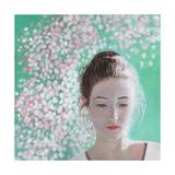 Portrait of a Girl Blossoming, 2015 Reproduction procédé giclée par Helen White
