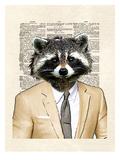 Raccoon Plakat av Matt Dinniman