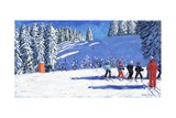 Young Skiers, Morzine, France, 2015 Giclee Print by Andrew Macara