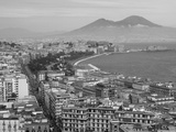 Mt. Vesuvius and View over Naples, Campania, Italy Reproduction photographique par Walter Bibikow