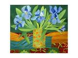 Iris, 2014 Art sur métal  par Jennifer Abbott